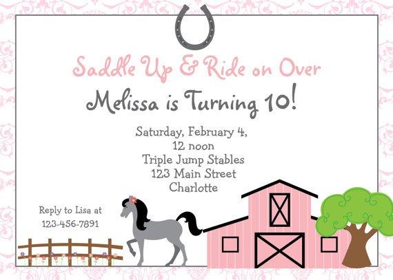Horseback Riding Party Invitation