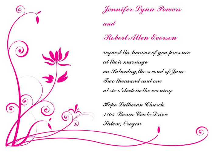 Hot Pink Black And White Wedding Invitations