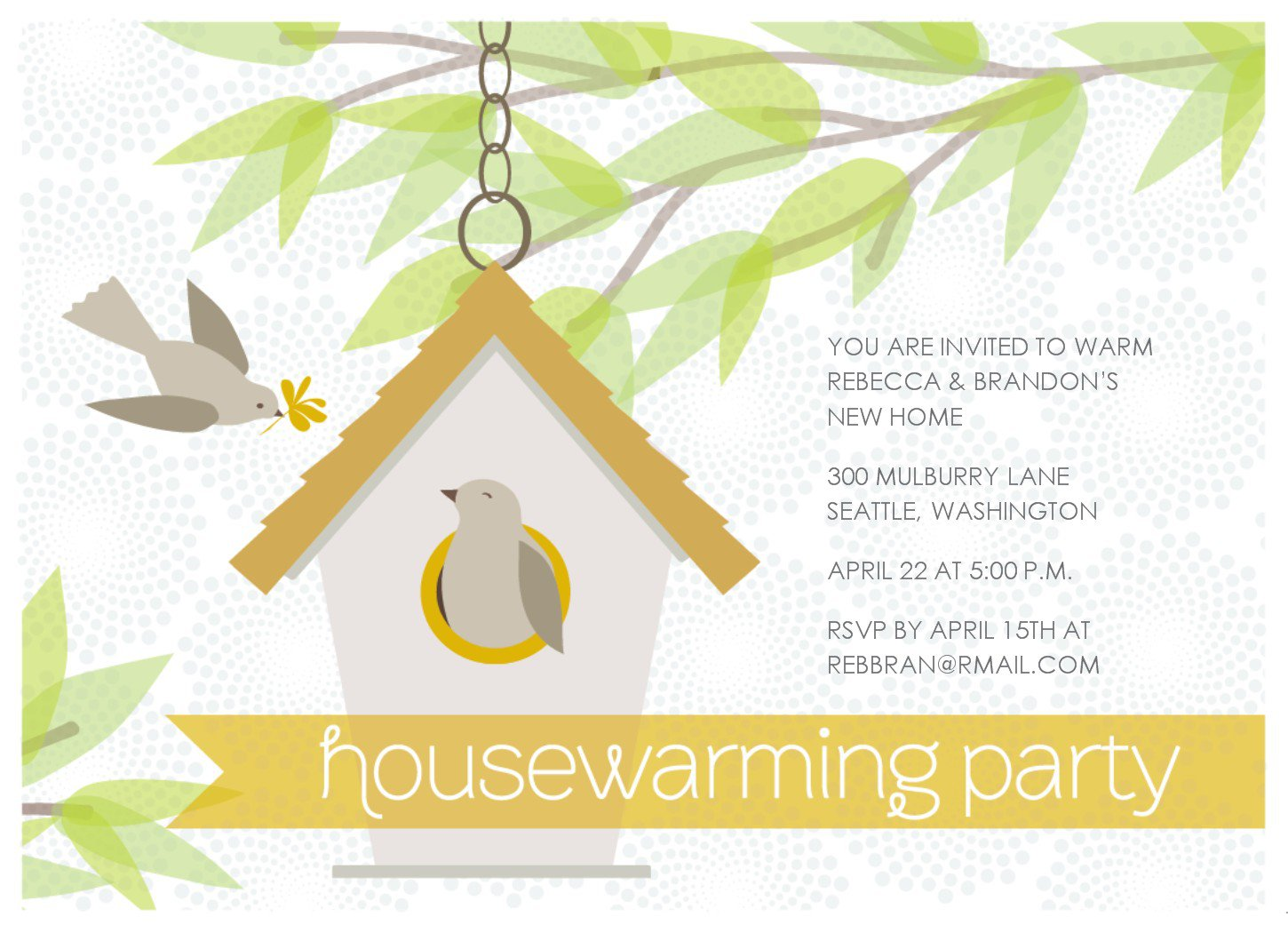 House Blessing Invitation Templates