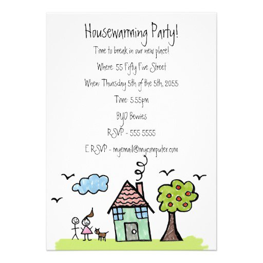 House Party Invitation Example