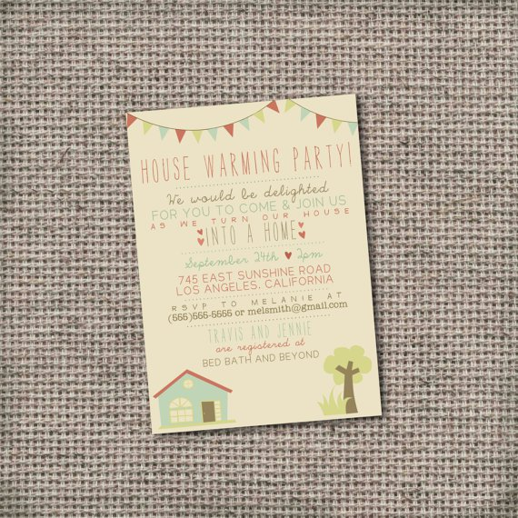 House Warming Party Invitations Printable