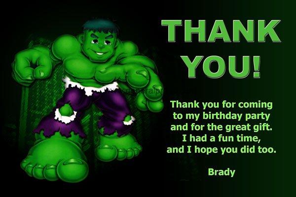 Hulk Party Invitations Free