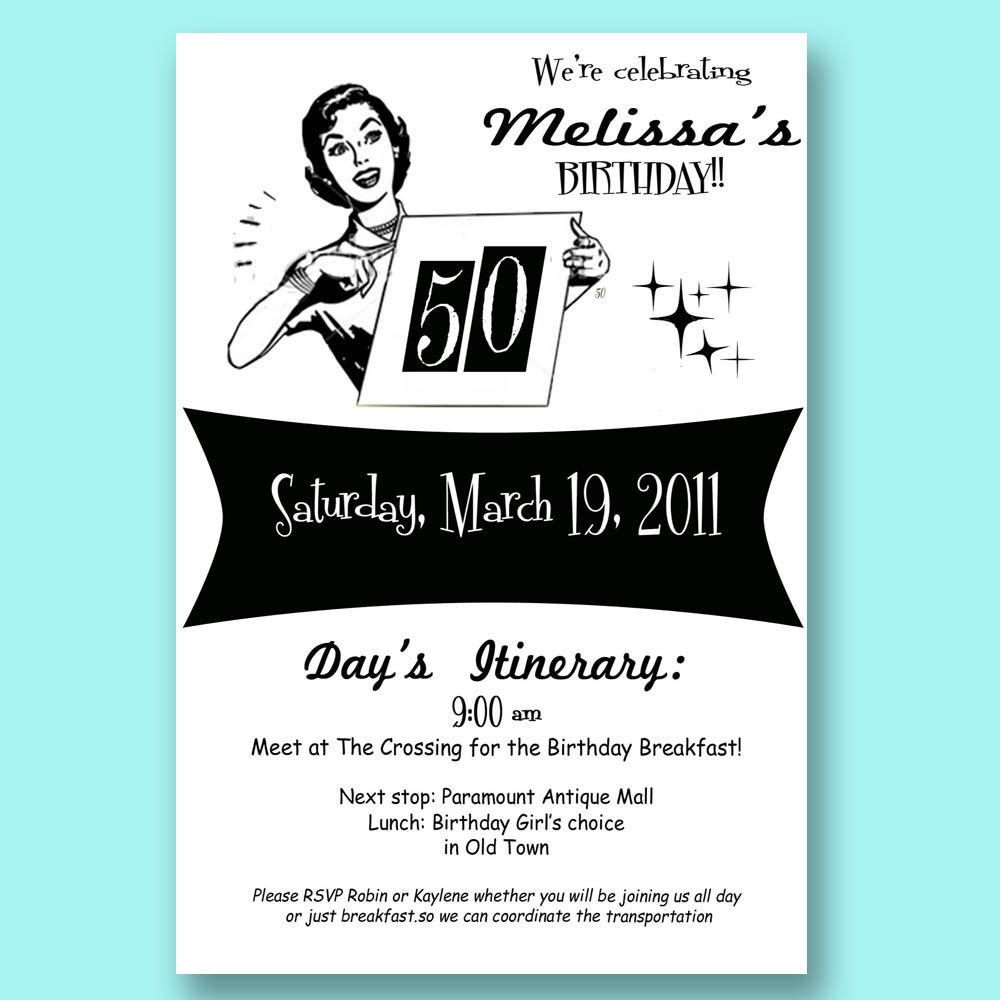 Humorous 50th Birthday Invitation Wording