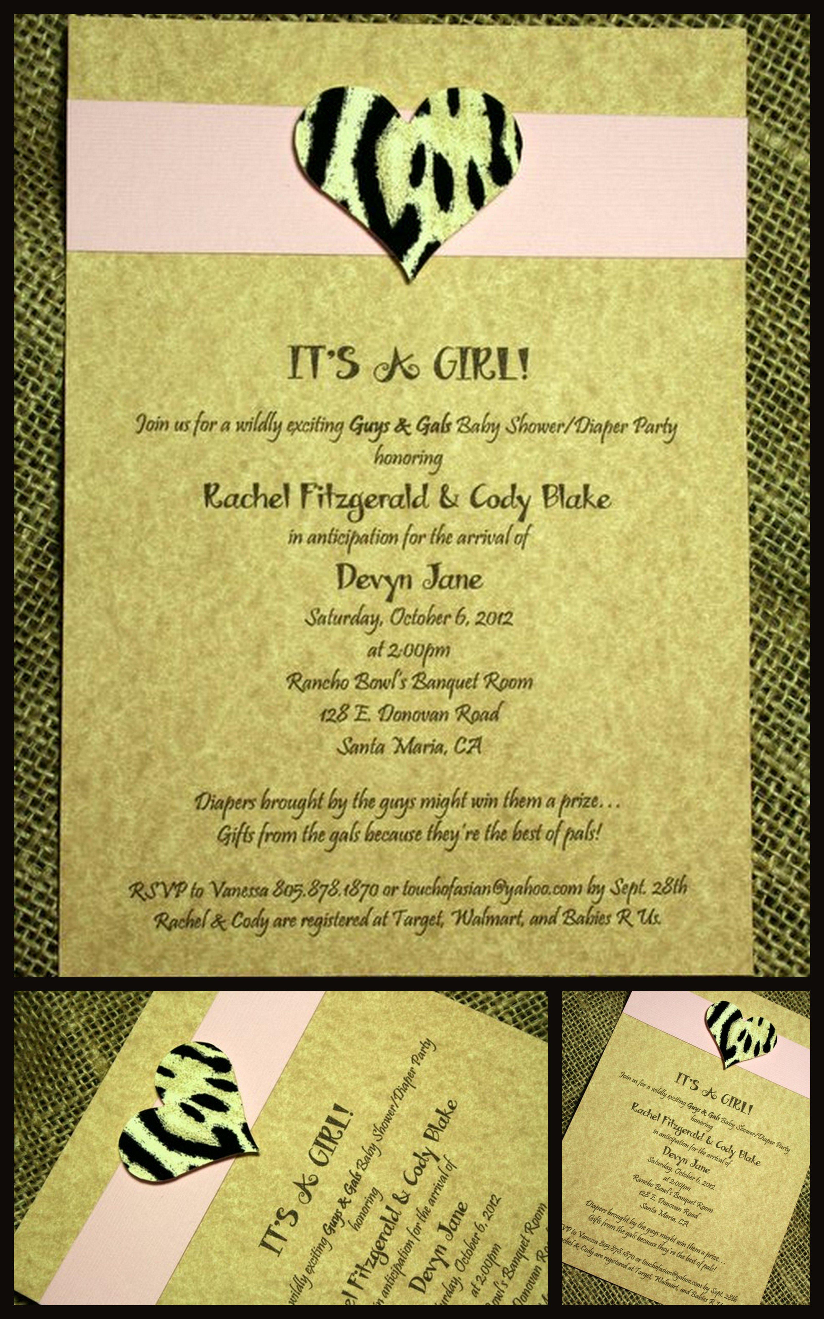 Humorous Bridal Shower Invitations