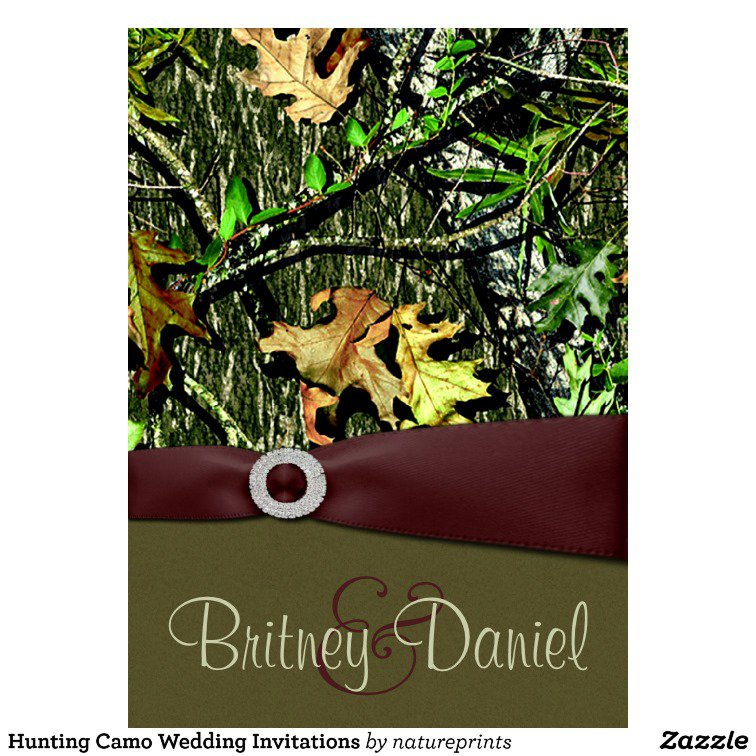 Hunting Camouflage Wedding Invitations