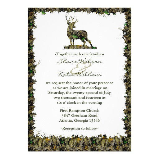 Hunting Camouflage Wedding Invitations