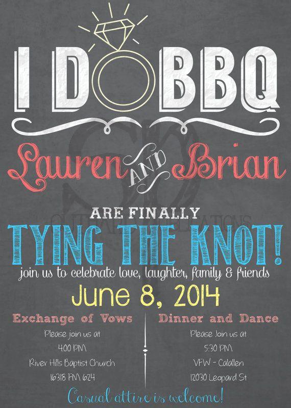 I Do Bbq Invitations Cheap