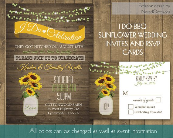 I Do Bbq Wedding Reception Invitations