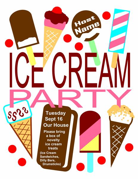 Ice Cream Invitation Template