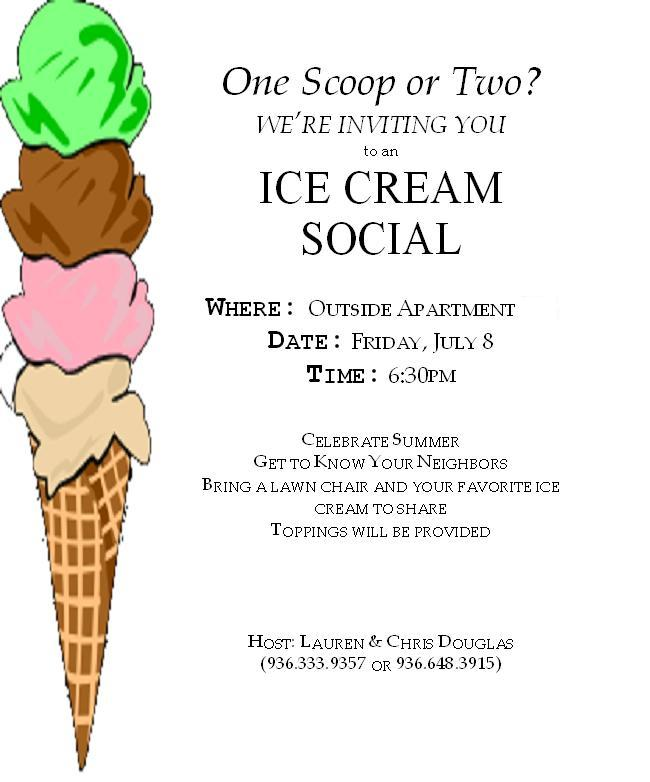 Ice Cream Social Template Ice Cream Free Printable Summer Party