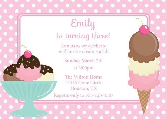 Ice Cream Social Invite Wording