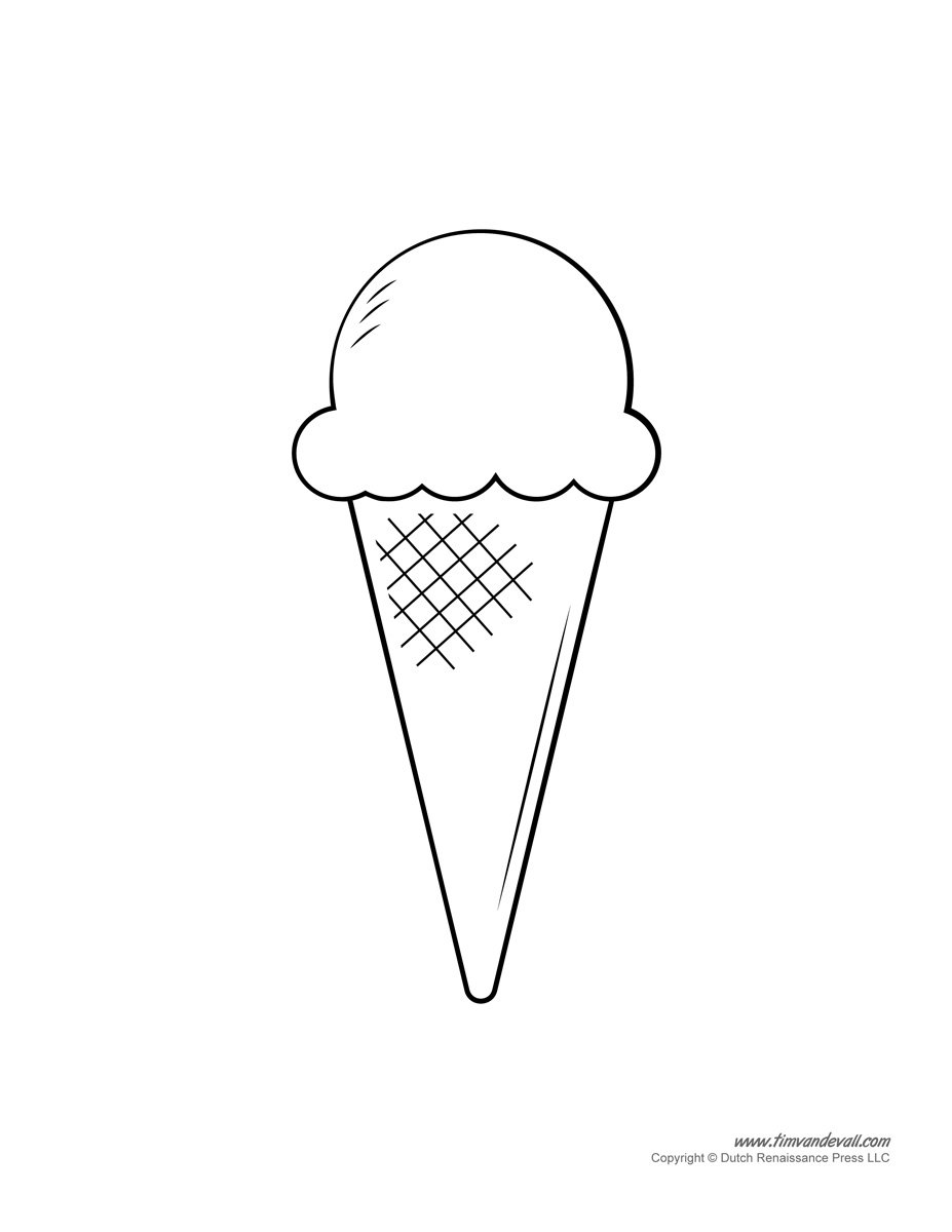 Ice Cream Templates Printable
