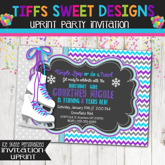 Ice Skate Invitation Printable