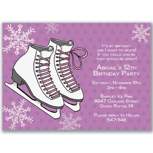 Ice Skate Invitations Printable