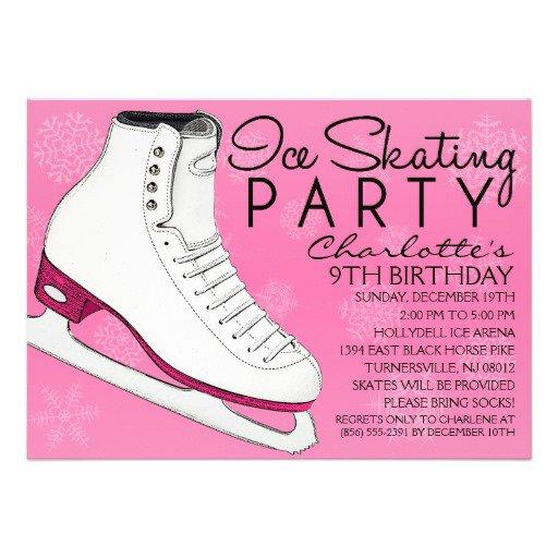 Ice Skating Birthday Party Invitations Free