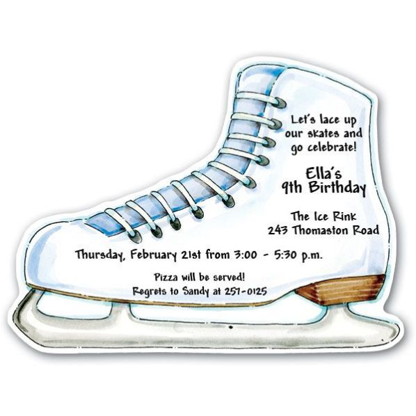 Ice Skating Party Invitation Template Free