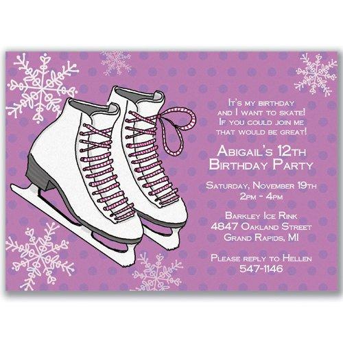 Ice Skating Party Invitation Wording