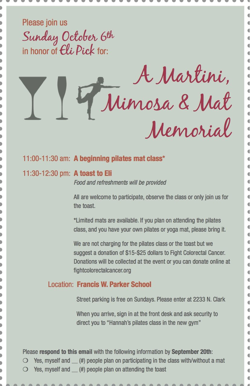 In Memory Of Fundraiser Invitation