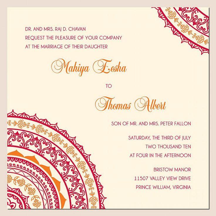 Indian Style Wedding Invitations Wordings