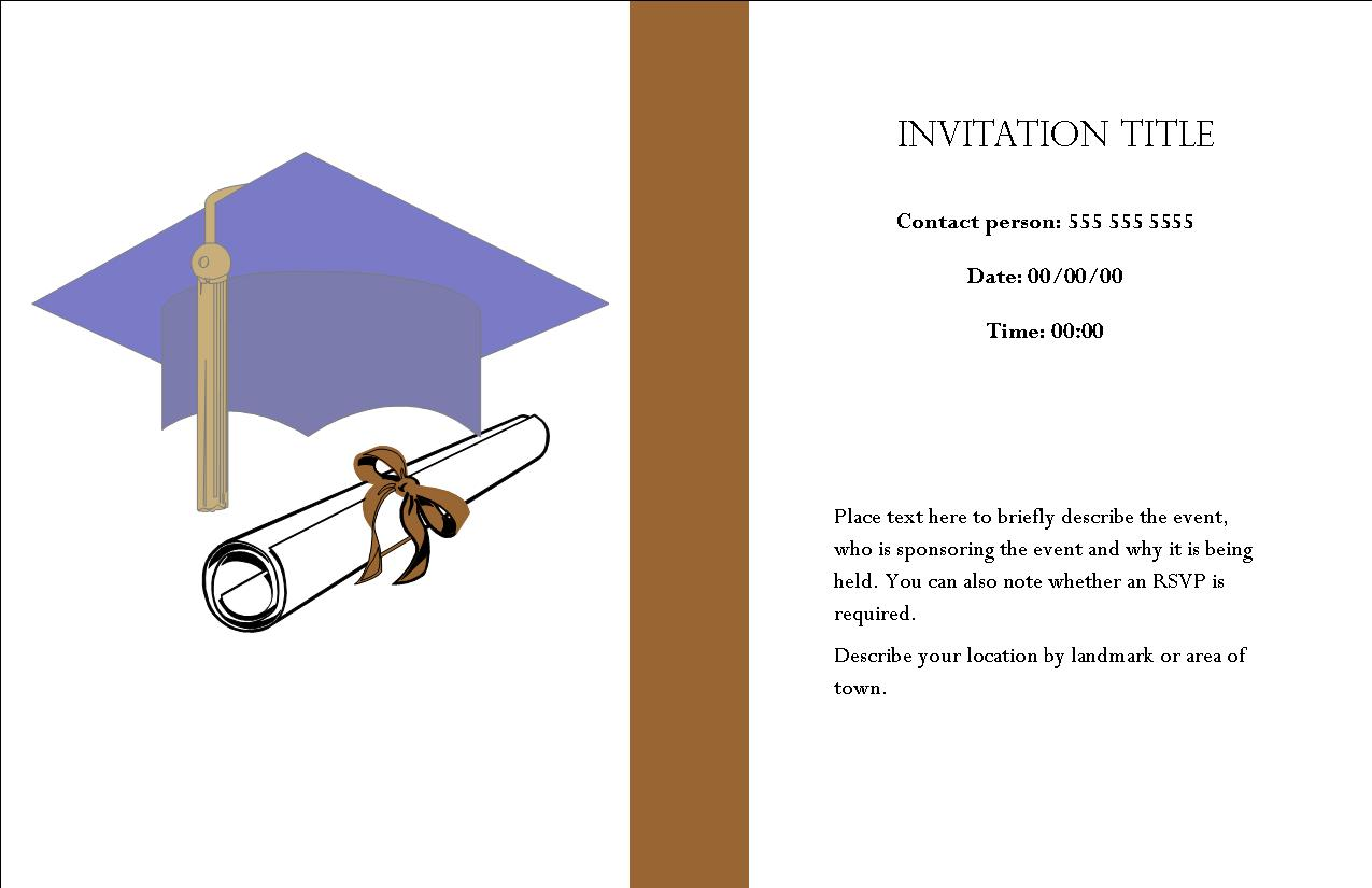 Inside Of A Party Invitation