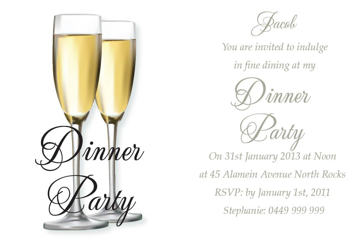 Invitation Card Templates For Dinner – Dinner Party Invitation Templates