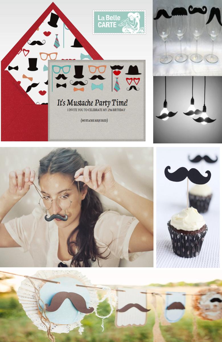 Invitation Ideas For Men Mustache