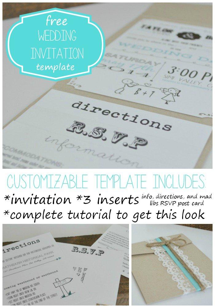 Invitation Insert Templates Free