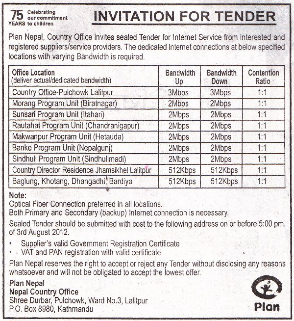 Invitation To Tender Letter Template