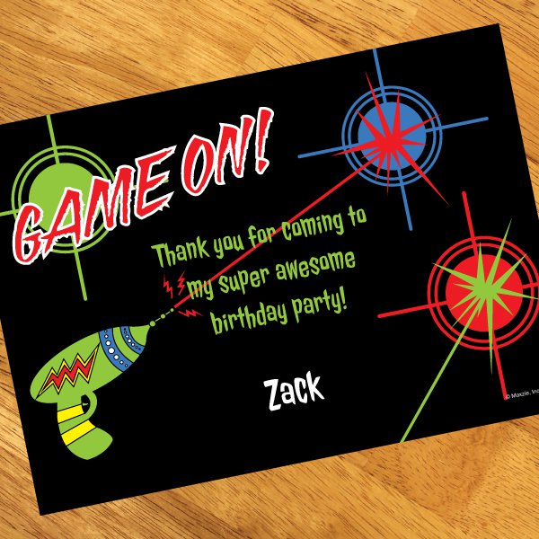 Invitations Laser Tag Thank You