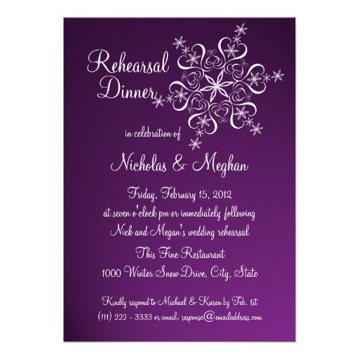 Invitations Purple Rehearsal