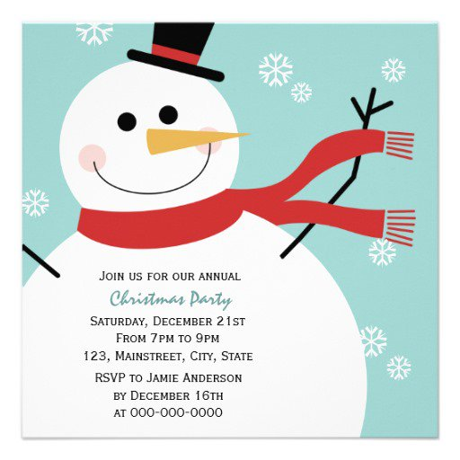 Invitations Snowmen