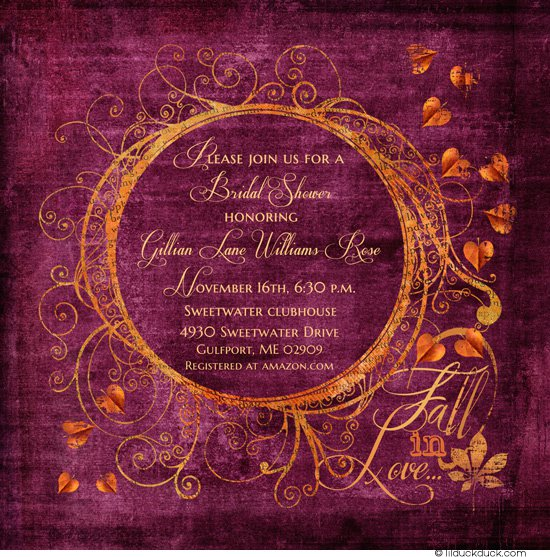 Invitations With Leaves