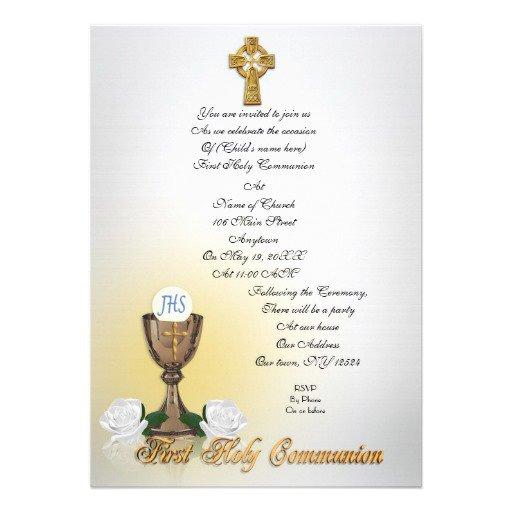 Irish Communion Invitations