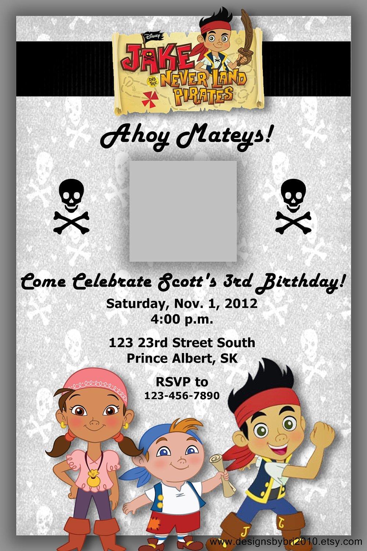 Jake And The Neverland Pirates Birthday Invitations Free