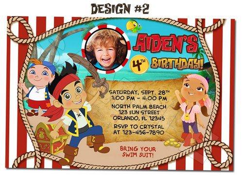 Jake The Pirate Birthday Invitations – Free Jake and the Neverland Pirates Birthday Invitations