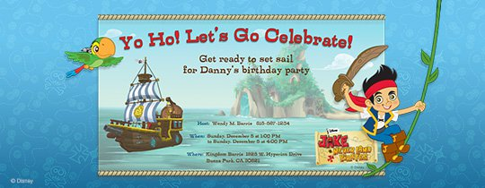 Jake The Pirate Invitations Template