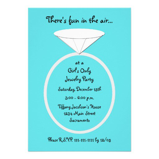 Jewelry Party Invitation Wording