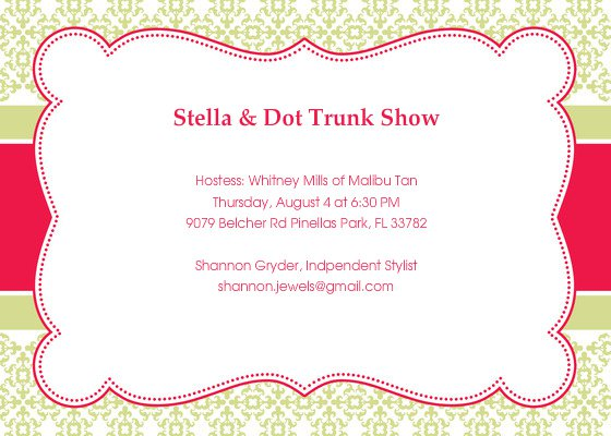 Jewelry Party Invitation Wording Ideas