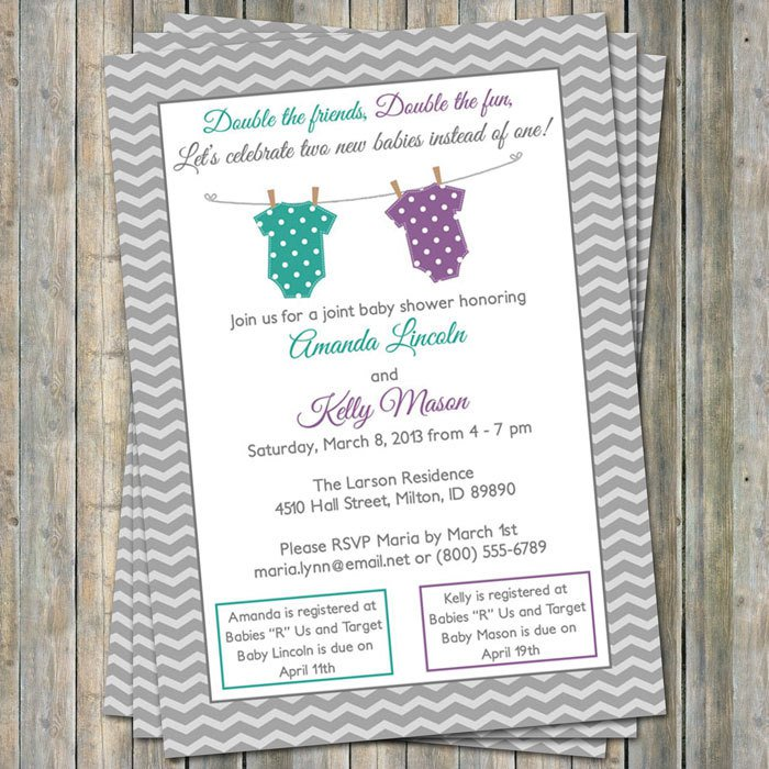 Joint Baby Shower Invitations For Sisters