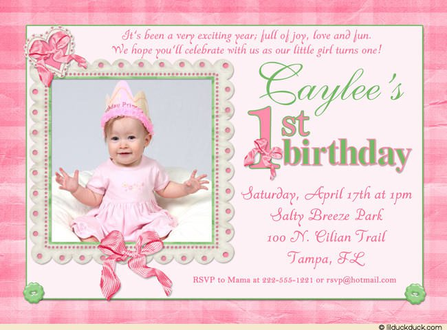 Joint Birthday And Baptism Invitations