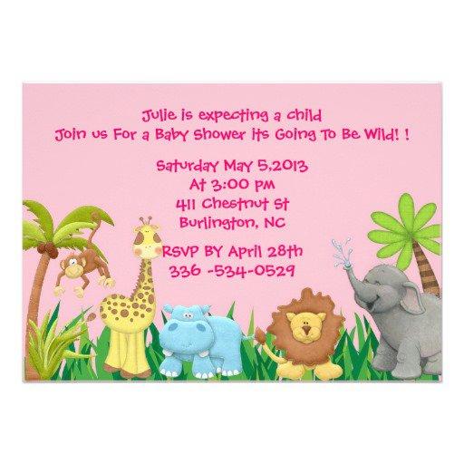 Jungle Baby Shower Invitations Printable