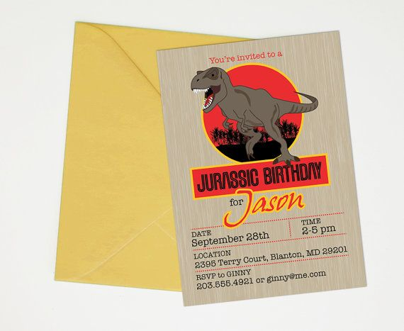 Jurassic World Invitations Printable