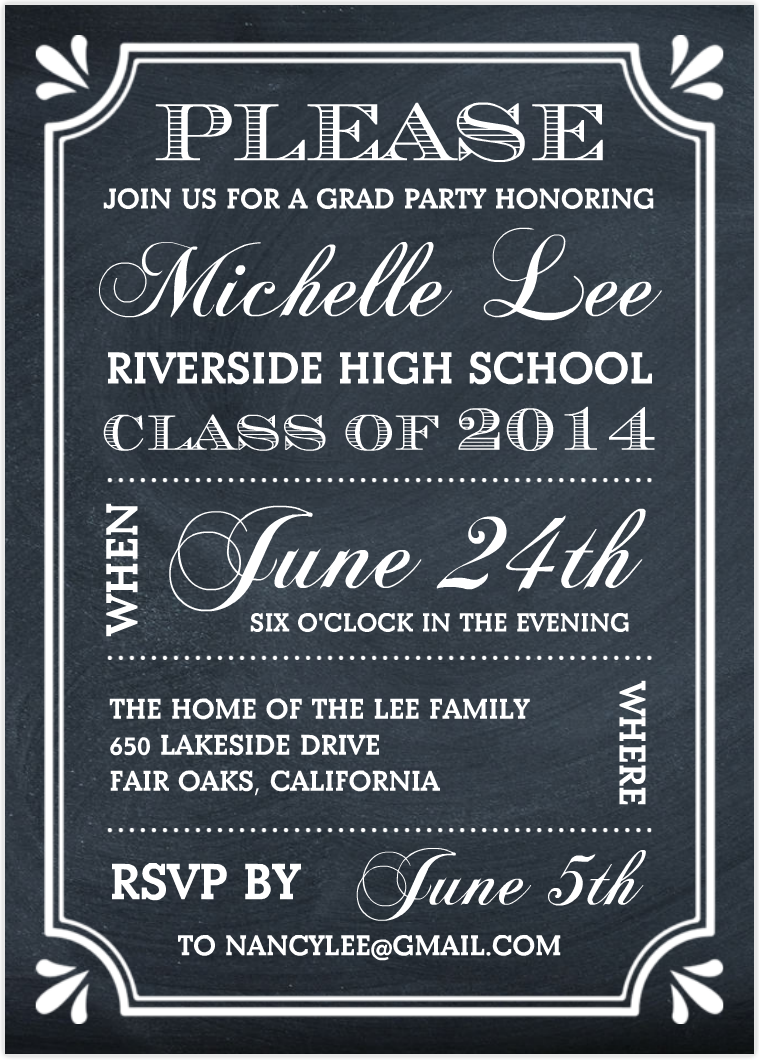 Just Because Party Invitations
