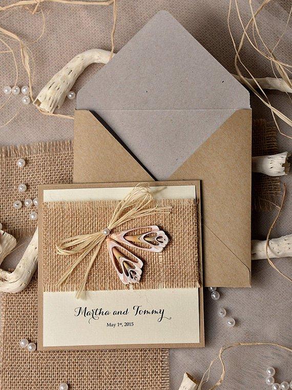 Jute Wedding Invitations