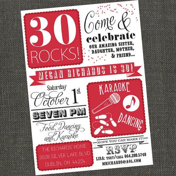 Karaoke Birthday Party Invitations Printable