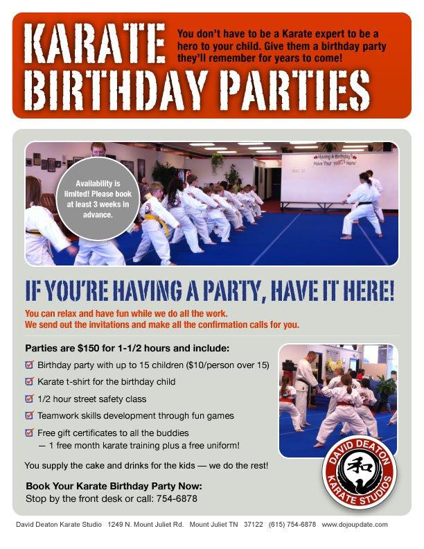 Karate Birthday Party Invitations Free