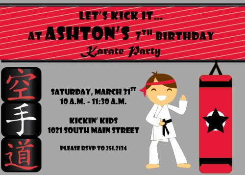 Karate Party Invitations