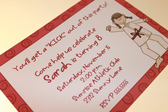 Karate Party Invitations Free