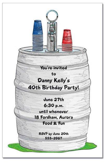 Keg Party Invitations For Men