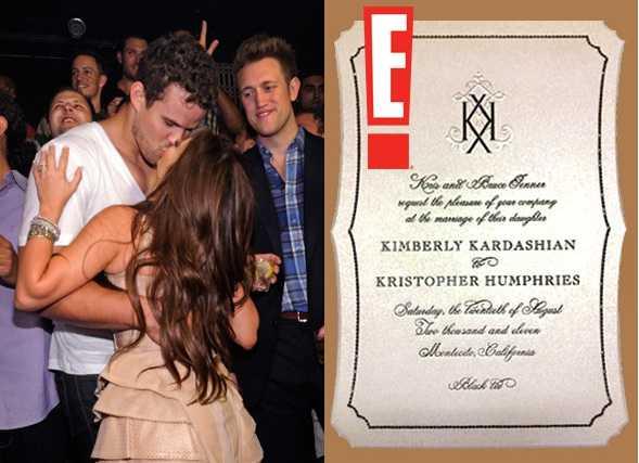 Kim Kardashian Wedding Invitation: Kim Kardashian Weddings Invitations